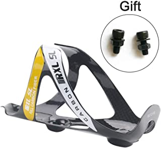 RXL SL Carbon Water Cage Carbon MTB Road Bike Bicycle Water Bottle Holder - Super Light 3K Gloss 20g - Black White