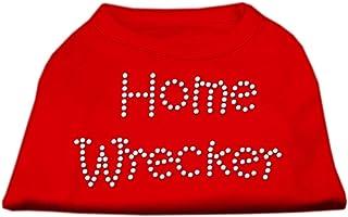 Mirage Pet Products Home Wrecker Rhinestone Shirts Red Medium