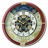 Seiko QXM378B Motion - Reloj de Pared (plástico), Color Rojo