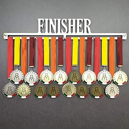 Finisher - Colgador de medallas Deportivas - Medallero de Pared Running, Marathon, Ironman, Triathlon - Sport Medal Hanger Display (600 mm x 100 mm x 3 mm)