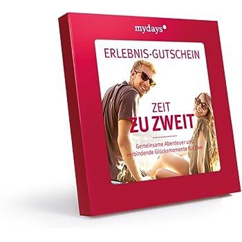 mydays Erlebnis-Gutschein Zeit zu zweit für 2 Personen, über 425 Erlebnisstandorte, Geschenk für Paare in roter Geschenkbox