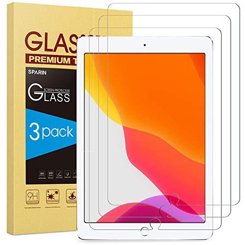 SPARIN 3 Stück Schutzfolie kompatibel mit iPad 8. Generation & iPad 7. Generation, Bildschirmschutzfolie für iPad 10,2 zoll 2020