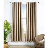 Amazon Basics - Juego de cortinas que no dejan pasar la luz, con ojales, 168 x 229 cm, Chocolate