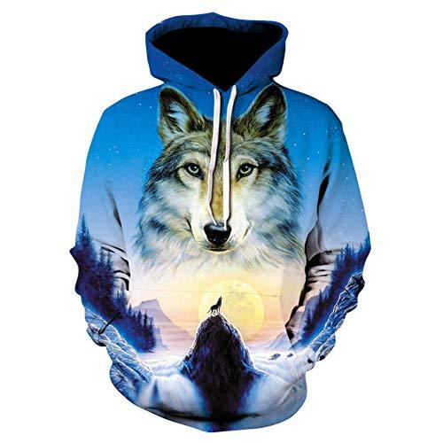 Loup Imprimé Hoodies Hommes 3D Hoodies Sweat Garçons Vestes Qualité Pull Mode Survêtements Animal Streetwear Out Manteau-Picture_Color_Size_L