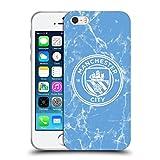 Head Case Designs Oficial Manchester City Man City FC Azul Blanco Mono Insignia de mármol Carcasa de Gel de Silicona Compatible con Apple iPhone 5 / iPhone 5s / iPhone SE 2016