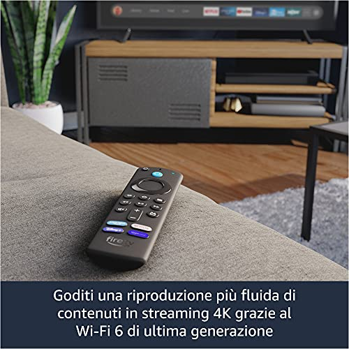 Ti presentiamo Fire TV Stick 4K Max, Wi-Fi 6, con telecomando vocale Alexa (con comandi per la TV)