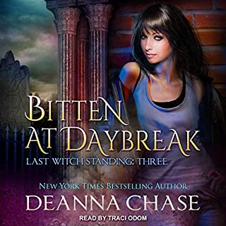 Bitten at Daybreak     Last Witch Standing Series, Book 3              Written by:                                                                                                                                 Deanna Chase                               Narrated by:                                                                                                                                 Traci Odom                      Length: 5 hrs and 59 mins     Not rated yet     Overall 0.0