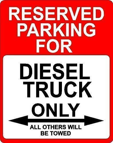 No dream Tin Sign Warning Sign Rustic Sign Post Diesel Truck Transportation Reserved Parking Only 8' X 12' Room Metal Poster Wall Decor
