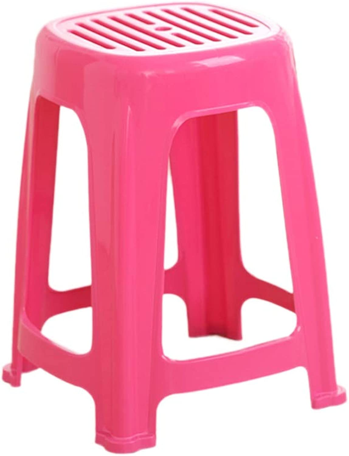 Carrying A Stool, Change shoes Bench Table Stool Bathroom Stool Breathable Easy to Clean Small Stool Hotel Stool Classroom Bench (color   Red, Size   28.5  47CM)