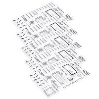 月間カレンダーパターンエンボステンプレート5個透明透明ゴム、カード作り用スクラップブッキングデコレーションワード