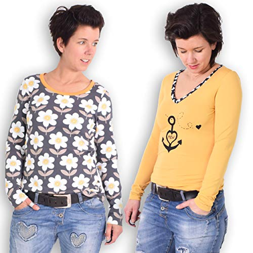 leni pepunkt Schnittmuster T-Shirt Damen mit Nähanleitung in den Größen XS-XXXL zum Nähen für Anfänger geeignet