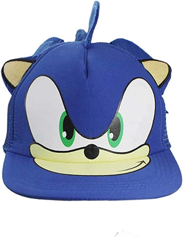 HLZG Blue Hat for Cartoon Game Cosplay Costume Adjustable Baseball Blue Cap for Little Boys Hat, Medium