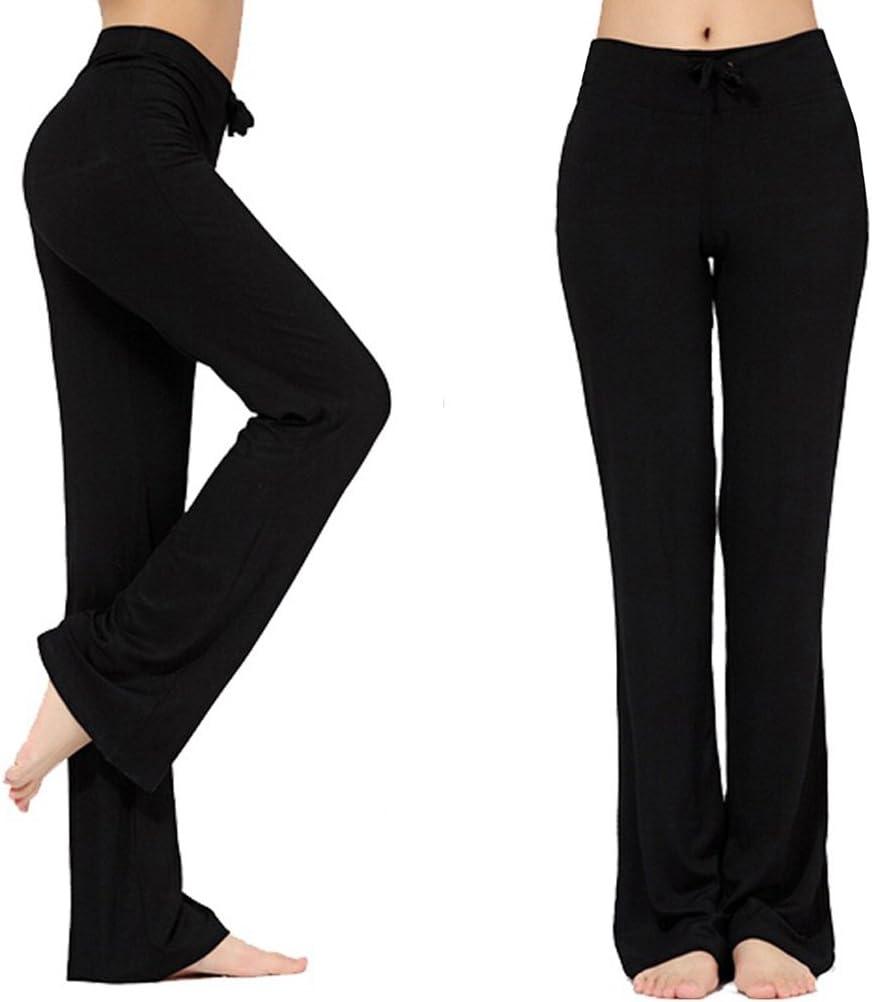 G4Free Pantalons de Sport Femmes Pantalons de Yoga dEntra/înement Extensible Taille Haute avec Poches Leggings de Gym de Sport Surv/êtement D/écontract/é Bas de Course Pantalon de Jogging /à Jambe Droite