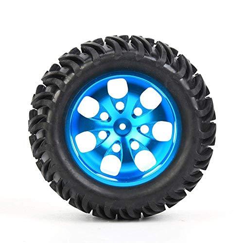 Universal 1/10 RC Car Tires Ruedas de vehículo de control remoto Llanta de rueda de coche RC, Neumático de coche RC, RC Crawler Car para RC Coche de escalada 1/10 RC Car Vehículo de control remoto