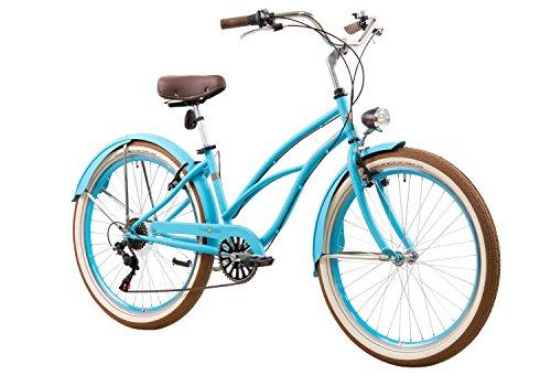 tretwerk DIREKT gute Räder Oceanside Lite Damen Beachcruiser 26 Zoll, Damen-Fahrrad 6-Gang Kettenschaltung
