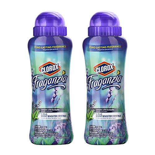 Clorox Fraganzia Scent Boosting In-Wash Crystals Twin Pack, Lavender | Laundry Freshener Beads in Lavender Scent for Fresh, Clean, Great Smelling Clothes