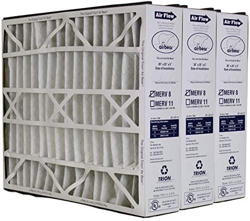 Trion 255649 102 Air Bear 20 x 25 x 5 Inch MERV 8 High Performance Air Purifier Filter Replacement product image