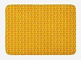 ABAKUHAUS Fruta Tapete para Baño, Zanahorias en trío Diseño, Decorativo de Felpa Estampada con Dorso Antideslizante, 45 cm x 75 cm, Coral Tierra Amarilla