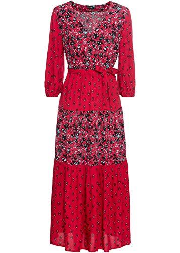 bonprix Wunderschönes Kleid mit 3/4-Ärmeln rot Bedruckt 36 für Damen