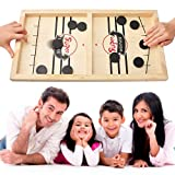 Fast Sling Puck Game Large, Fancymay Wooden Hockey Game, 22x11.8 Inch, Foosball Winner Board Game, Parent-Child Interactive Toy Board Table Game for Family Game Night Fun