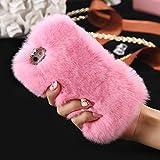 FLOVEME Cover per iphone se/5s in Pelo Artificiale Pelosa Morbida Protettiva Donna Ragazze Case Cover per iphone se/5s Rosa