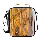 Lunchboxes Women Beautiful Notre Dame De Paris Men Lunch Bags for work con tracolla regolabile e tasche multiple Borsa pranzo per ragazzi