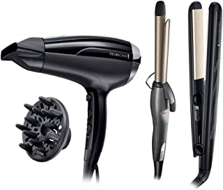 Remington Ceramic 230 Hair Straightener -S3500 with Remington Pro-Air Shine Hair Dryer - D5215 with Remington Hair Curler - Ci76