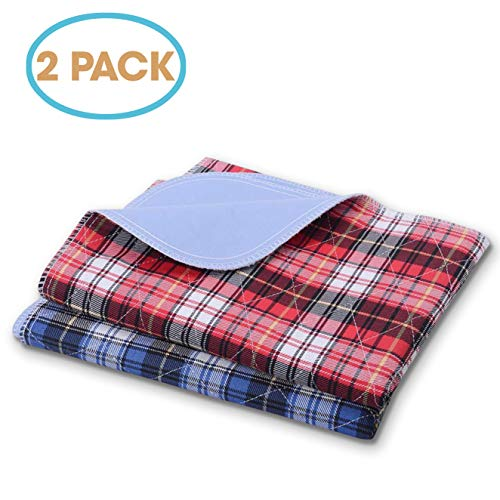 """JT Pet Potty Dog Training Puppy Pads Washable Reusable Waterproof Pee Pads Guinea Pig Cage Hamster Bedding Extra Large Dog Crate Lining (Set of 2 - XL 36"""" X 24"""")"""