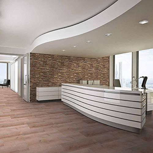 Holz Wandverkleidung mit 3d Paneelen aus verwittertem, recyceltem Holz von Nordje® (Elvar | Teak) - 6