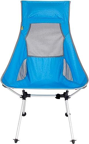RTTzf Chaises Pliantes Chaise de Camping, Chaise Pliante légère portable, Sac à Dos Compact portable, Alpinisme, Pique-Nique, Sac de pêche Portant Le Sac 145KG Chambre d'enfant