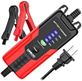 GOOLOO 2amp Smart Battery Charger, Automatic Battery Maintainer, 12V Chargers, Trickle Chargers and Battery Desulfator for Cars, Motorcycles, Boats, Trucks, SUVs with Multiple Protection