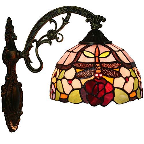 FABAKIRA Tiffany Lampe Wandleuchte Sonnenblume Muster Vintage Mini Wandlampen Eingangshalle Arbeitszimmer Wohnzimmer Beleuchtung