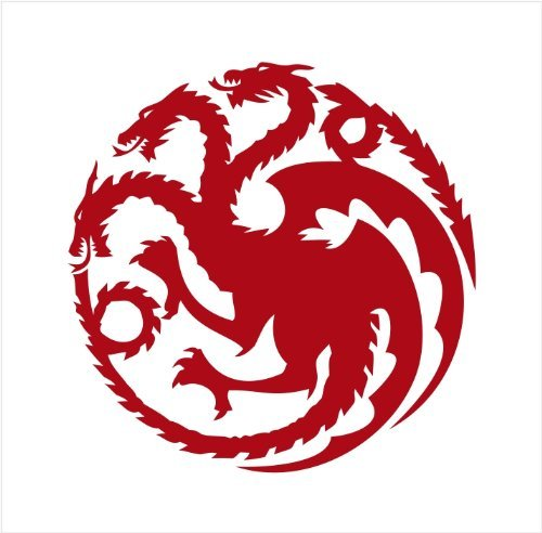 Targaryen Dragon Logo Game of Thrones - Vinyl 4' tall (Color: RED) decal laptop tablet skateboard car windows stickers - by So Cool Stuff
