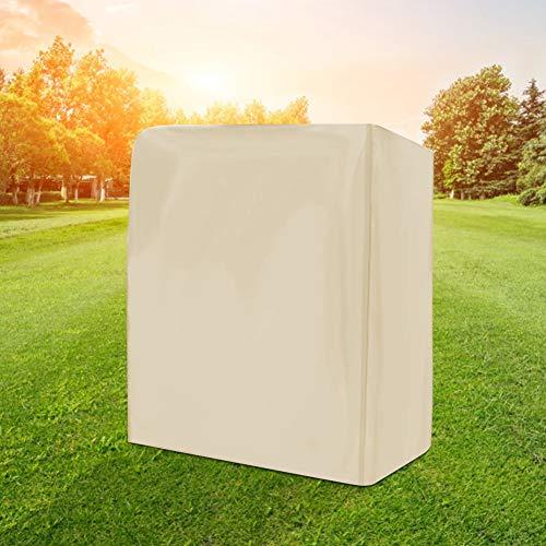 Seacanl Funda para Columpio para Exteriores con protección Solar, Funda para Columpios, con Bolsa de Almacenamiento para jardín para Exteriores(Beige)