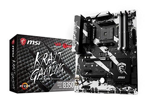 MSI B350 KRAIT GAMING, Sockel AM4, DDR4, HDMI,DVI 1x M.2 & 10x USB 3.1(2x Gen2 & 8x Gen1), 1x USB-C ATX Mainboard