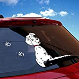 Car Rear Window Decals,Rylybons Funny Car Auto Body Sticker Dog Moving Tail,Rear Windshield Window Wiper Side Truck Graphics Decals(Silvery)