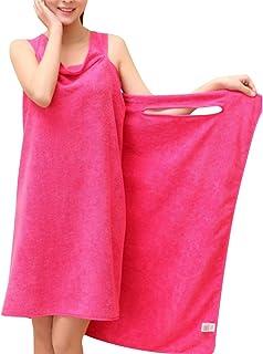 HiCollie バスタオル 着れるスタイル ずり落ちない バスローブ レディース 着るバスタオル 肌触りがよい バスワンピース 吸水 速乾 お風呂上がり・プール・ジム 簡単に巻く 6色選べる