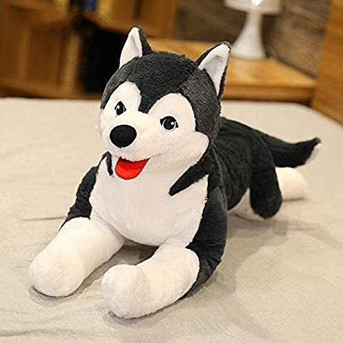 OELPAN Juguete de Peluche de 60 cm Juguete de Felpa para Perro Juguete de simulación de Perro de Peluche Juguete para niños muñeco de Peluche Suave Bonito Regalo de cumpleaños para niños y niñas