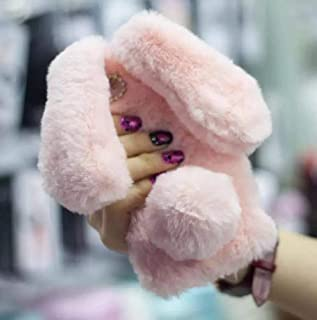 Galaxy S9 Fur Case for Girls,Jesiya Luxury Cute Toy Warm Handmade Rabbit Bunny Furry Fuzzy Soft Rabbit Fur Hair Plush Case Cover for Samsung Galaxy S9