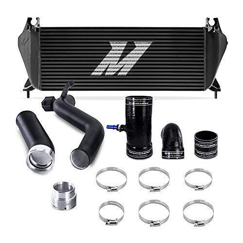 Mishimoto MMINT-RGR-19KBKBK Performance Intercooler Kit, Compatible With Ford Ranger 2.3L EcoBoost 2019+, Black Intercooler, Black Pipes