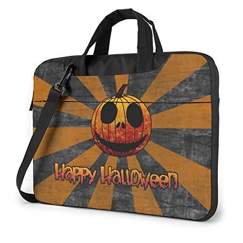 Bolsa para computadora portátil Feliz Halloween Bolsa de Mensajero de Hombro para computadora portátil 13 Pulgadas Funda Impermeable para computadora portátil Estuche de Transporte Maletín