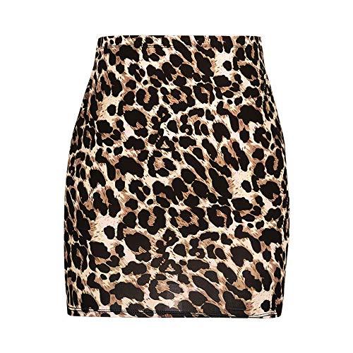 Lenfesh_Vestidos Falda para Mujer,Lenfesh Falda Sexy Mujer Mini Falda Serpiente con Cremallera Delgada Sexy Falda de Fiesta Falda Cortas Ajustado Slim de Noche (Marrón-1, XL)