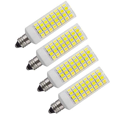Kinglight E11 Led Bulb 75W 100W Equivalent Halogen Replacement Lights, Mini Candelabra Base, 1000 Lumens Daylight White 6000K, AC110V/ 120V/ 130V, Replaces T4 /T3 JD e11 Halogen Bulb,4-Pack