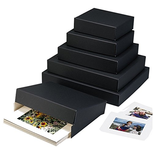 Lineco Museum Archival Drop-Front Storage Box, Acid-Free with Metal Edges, 9 X 11 X 3 inches, Black (733-2811)