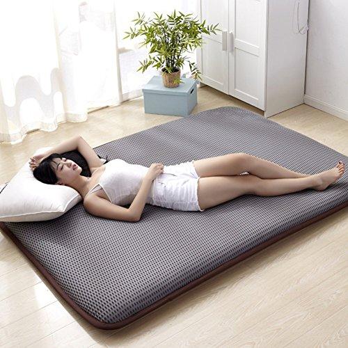 ZXYY Tatami vloermat traditioneel Japans futon Japans bed Queen-King Dorm dun matras topper wasbaar-A 150x200cm (59x79inch)