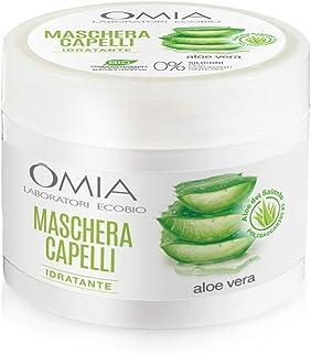 Omia - Maschera Per Capelli Erboristica con Aloe Vera del Salento, Trattamento Idratante e Illuminante per Capelli Secchi,...