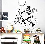Stickers Muraux Ballon Rugby Sport Decal Nursery Garçon Chambre Vinyle Amovible Wall Sticker Home Decor Art Papier Peint 63 * 56 Cm