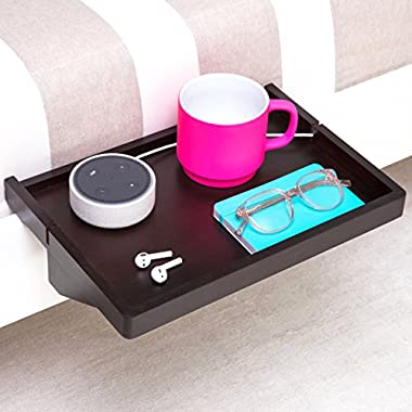 BedShelfie The Original Bedside Shelf - 9 Colors / 2 Sizes - AS SEEN ON Business Insider (Regular Size, Bamboo in Black)