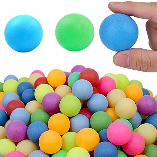 Pelotas de Ping Pong, 50Piezas Pelotas de Tenis Mesa Bolas Entrenamiento en Series Torneo Juegos para Adultos y Niños Mezcla de Colores