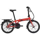 Tern Faltrad Link C3i Fahrrad 3 Gang 20 Zoll ALU Nabenschaltung Shimano Ständer Gepäckträger, CB19PFCO03HDR, Farbe Rot